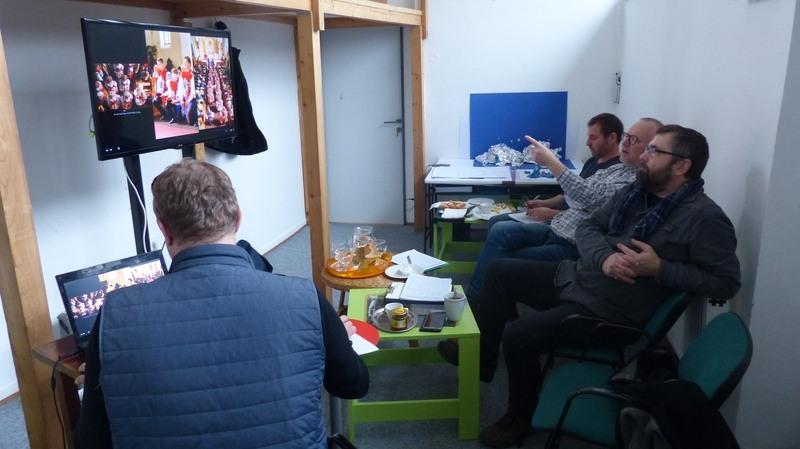 Sezení kurátorského týmu Ohlédnutí 2017