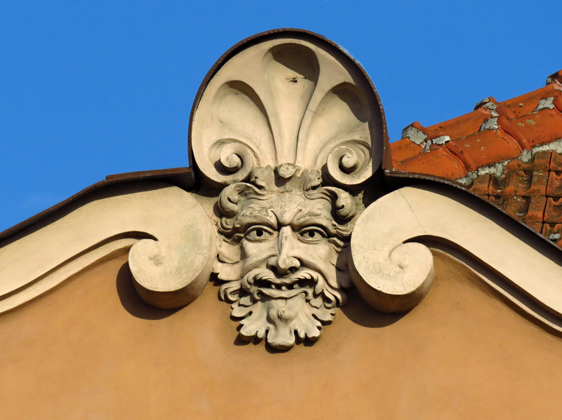 1. Domovní maskarony, Uherské Hradiště