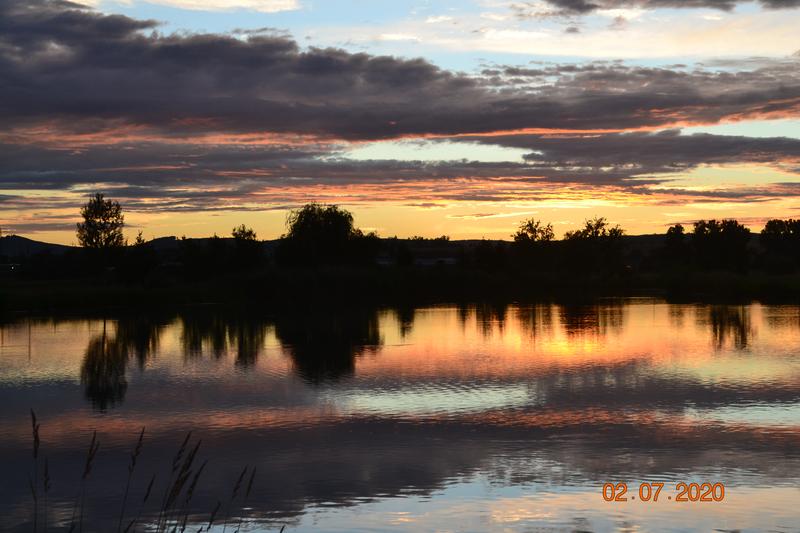 Západ slunce nad Šterkovým jezerem