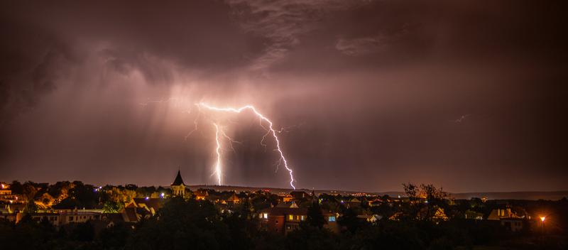 Noční bouře nad Slováckem