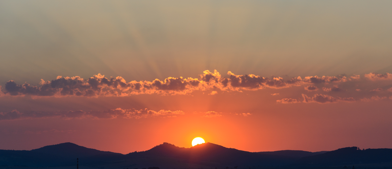 Západ Slunce na Uherským Hradištěm