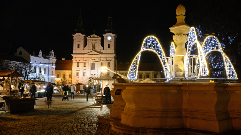 Vánoční trhy - kašna